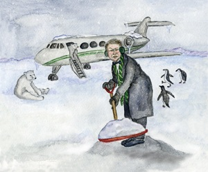 Al Gore is digging his private jet out of the snow