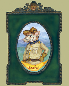 A portrait of President Theodore Roosevelt's pet rat